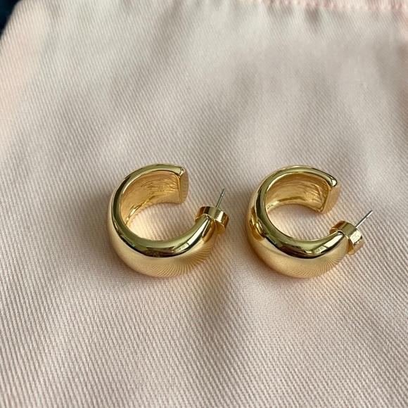 NWOT Banana Republic small thick hoop earrings